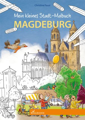 Wimmelbuch Magdeburg Malbuch Cover Web